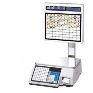 Торговые весы с печатью этикеток CAS CL5000J-IS